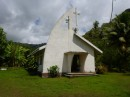 The churches in other countries are always interesting to visit.  On Hiva Oha the smaLL village churchs only gets a visit from a priest once or twice a year.  The rest of the time a villager will lead the worship service