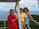 Karen, Cathy, and Michelle at the top of the lighthouse.
