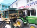 The Belikin beer delivery truck in San Pedro,  Ambergis Cay, the major diving center of Belize.