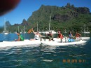 July is a month of festivities for the Tahitians with canoe racing a big event.  Over 1000 paddlers competed