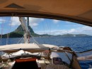 Entering Bora Bora ship channel