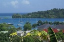 Port Antonio with Navy Island in the background