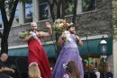 Queens of the parade,  actually 2 local comedians