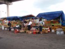 Fresh produce stands under the bridge from Nassau to Paradise Island