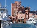 Atlantis Resort hotel.  You can walk around the hotel, casino, and eateries, but a 1 hour tour of the rest cost $35.  For $125 you can get a day pass to use the facilities,  water park, beaches etc.  Nice place but not worth that kind of money.