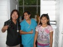 Naty, on the left, was another nurse visiting the river for a few weeks and offered to help us for a few days.  Cindy,  in the middle,  was one of several interpreters there that day.  Each physician had their own assigned interpreter.