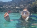 The captains daughter came with us snorkeling