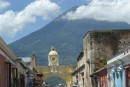 This arch crossing the street in Antigua was built to let the cloistered nuns cross the street without being seen in public