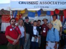 SSCA booth at the boat show.  We set a record for the number of new members we signed up.