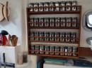 Our new spice rack, complete with S&P holder