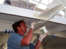 Colin working on the dinghy support
