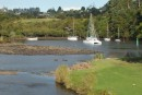 Anchored at the Stone Store... the highest navigable point of the Kerikeri river