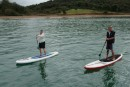 Dorothy learns to paddleboard