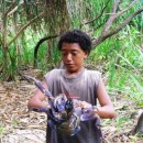 Jeremiah with a coconut crab