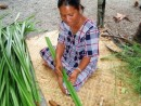 making kimij from coconut fronds