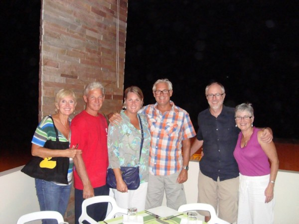 Krissy, Ni, Steve, Tracy, Rick and Bonnie- dinner in St. Croce
