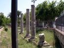 These ancient columns were beside a modern playground