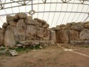 Mnajdra showing the protective tent