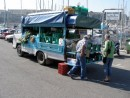 Fruit and Vegetable Delivery truck at Msida marina