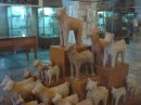 Ceramic animal figurines found in burial tombs near Chania (these sacred offerings were economical than the whole cow!)