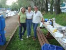 Katherine, Laura and Ornella at BBQ