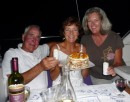 Birthday celebration for Sandra aboard Sangaris