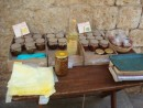 local food products: fig & quince cakes and fruit marmalades
