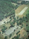 Aerial view of the World Heritage-listed site of Ancient Olympia