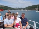 Boat trip up the Dart - The glare was unbelievable - Sha bailed out