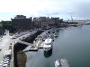 Brest Chateau...with part of the Naval dockyard below