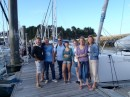 Stu, Tom,Andy,Daisy,Ollie,Juls and Shar....just before we left St Malo