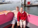Taking the pink ferry to Warsash for dinner.