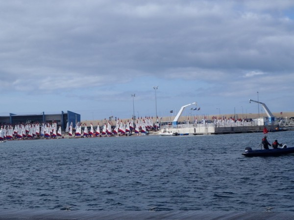 344 (I asked) dinghies out for their Nationals, Portland habour was where the Sailing for the 2012 Olympics was held.