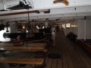 HMS Warrior...crews lived in and around their guns