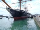 HMS Warrior...last of the iron sailing ships.