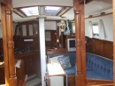 Looking down from the companionway