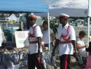 The Royal Bahamas police carried sticks, but not guns.