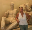 Athens - In True Aussie spirit, Heather offers a helping hand to her first ancient Greeek
