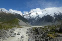 Mt Cook massif in the Hooker Valley