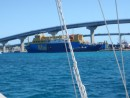 This is a mail boat in Nassau. It actually transports the mail to and from parts of the Bahamas.