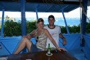 Elizabeth and Seth in the Grenadines.  Moorings bareboat rental.