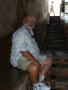 Barry waiting out the rain at Fort Morron in Old San Juan.