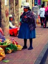 very typical sight in Cuenca.  Locals selling their produce