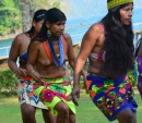 The Woonaan and Embera Indians performed ceremonial dances at the lodge one afternoon