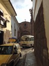 Street view - narrow cobblestone, Inka stone and spanish colonial architecture - fantastic!