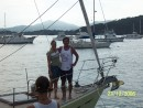 Dad and Jeni on bow