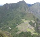 The Incan city from the tippy top of Wayna Picchu