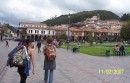 Checking out the downtown plaza in Cusco
