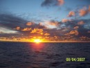 Sunrise enroute to Pago Pago