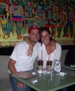 Andrew and I at an 80�s bar in Quito.  Those are Long Island Ice Teas, and they were so choice